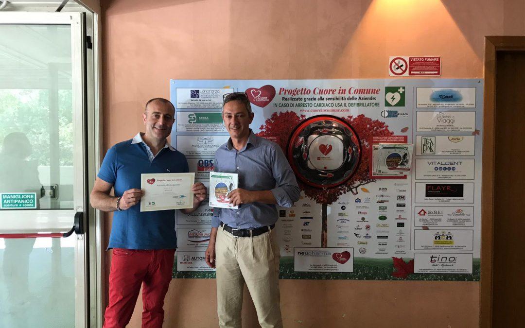 Progetto Cuore in Comune: il defibrillatore è stato collocato